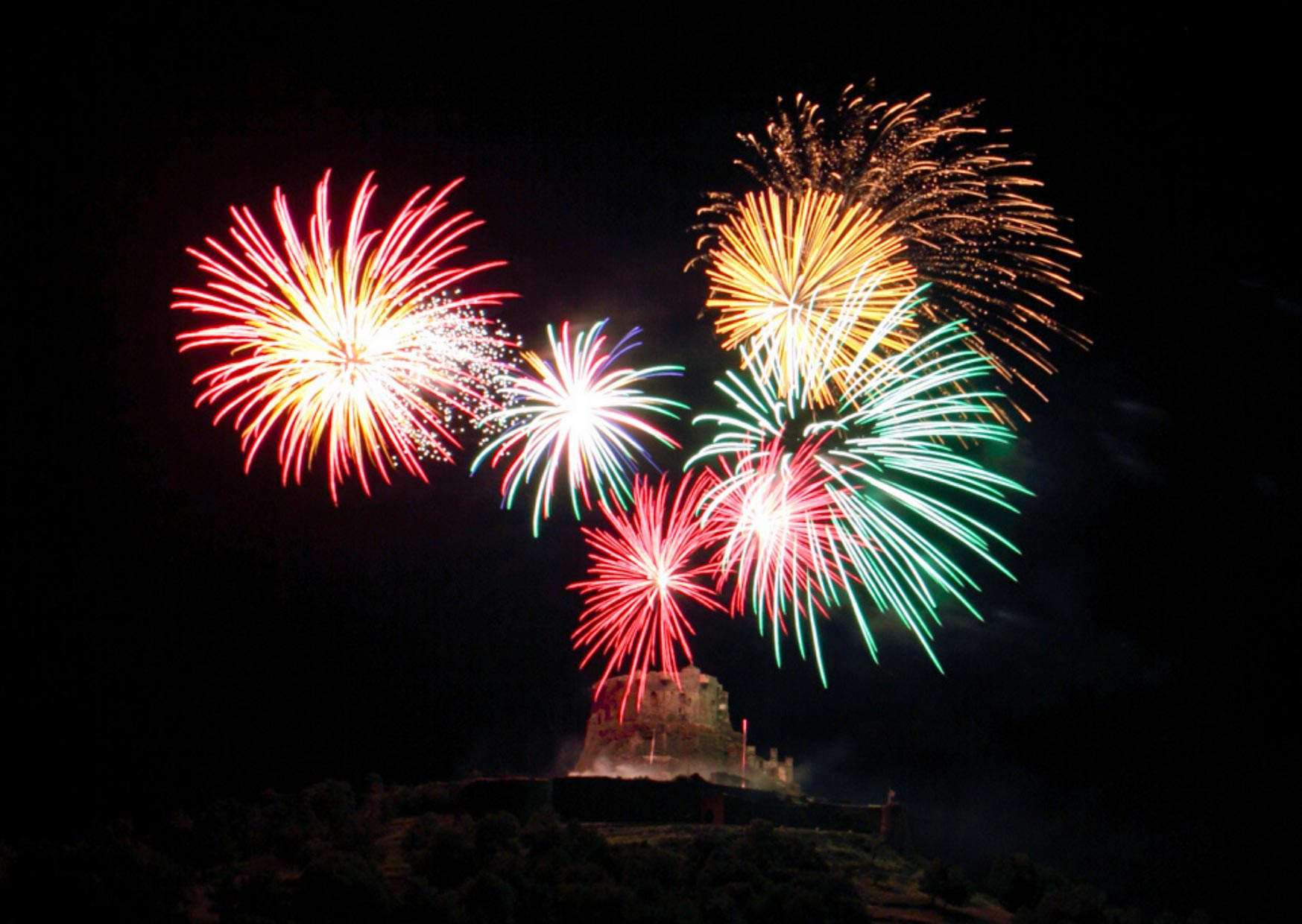 Feu d'artifice chateau de Murol : 14 juillet 2020